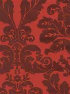 red on red damask